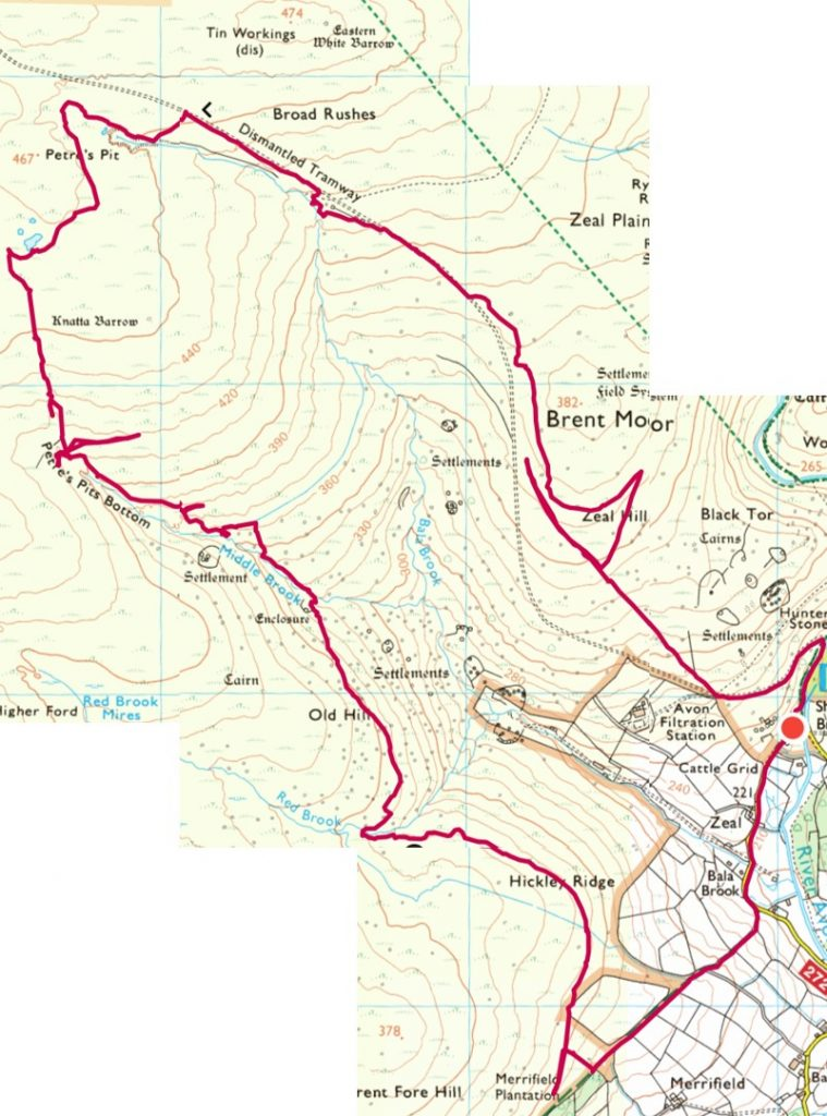 Brent Moor OS Map