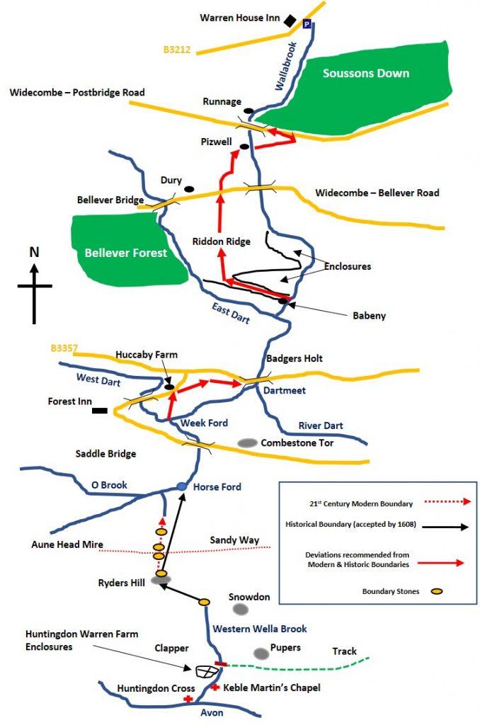 Western Wella Brook to Wallabrook Head