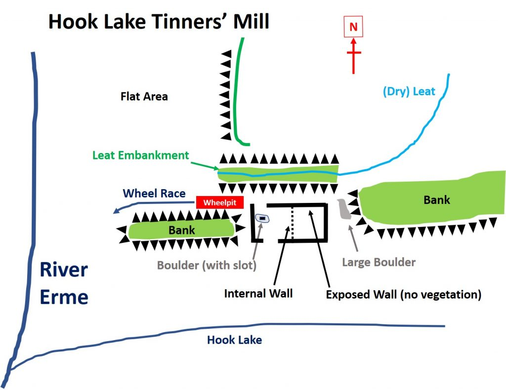 Hook Lake Tinners Mill Map