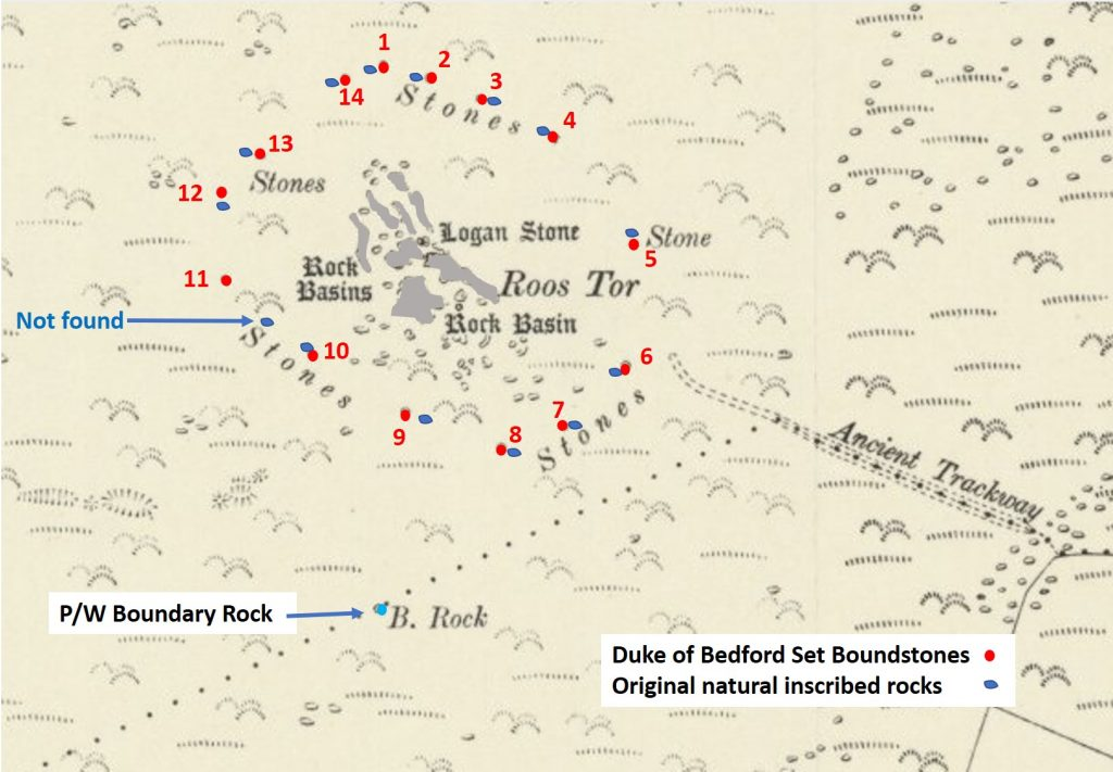 Roos Tor Map