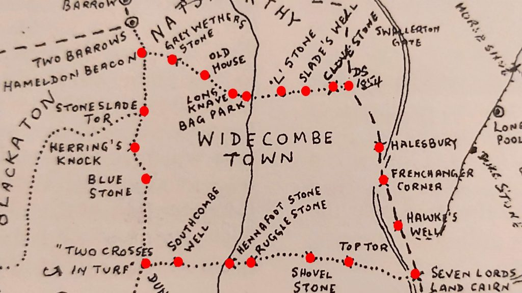 Widecombe Town Manor Map Brewer