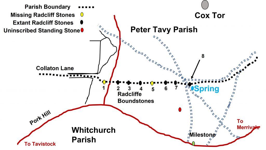 Radcliffe Boundary Stones map