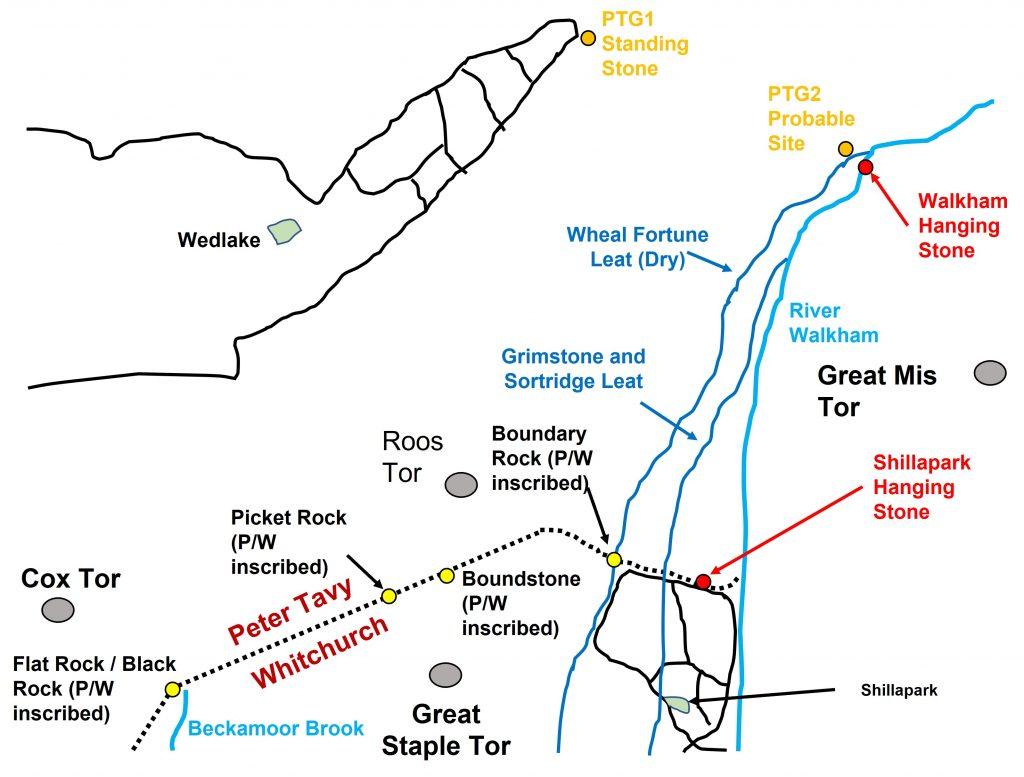 Walkham Hanging Stones Map