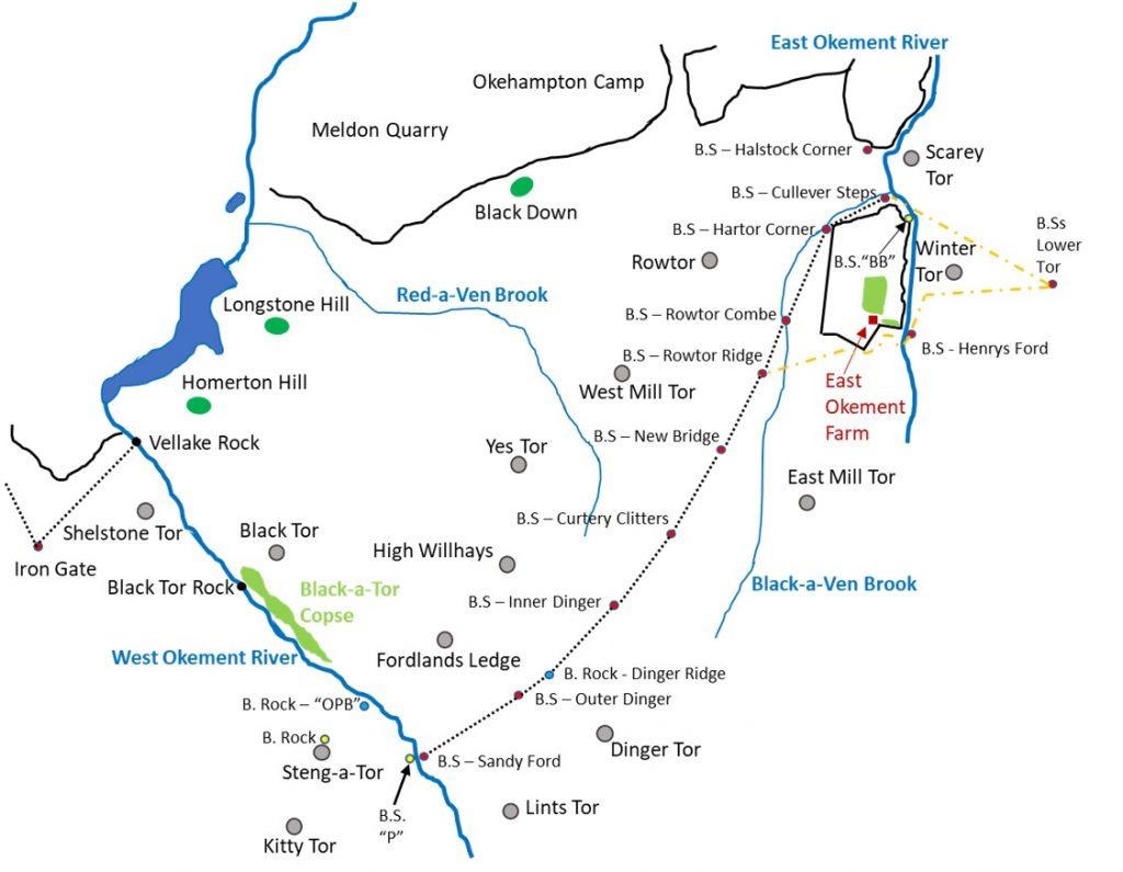 Okehampton Bounds Map