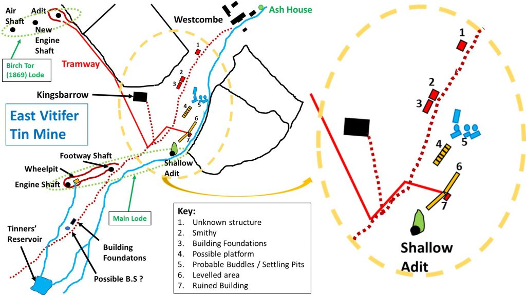 East Vitifer Mine Map