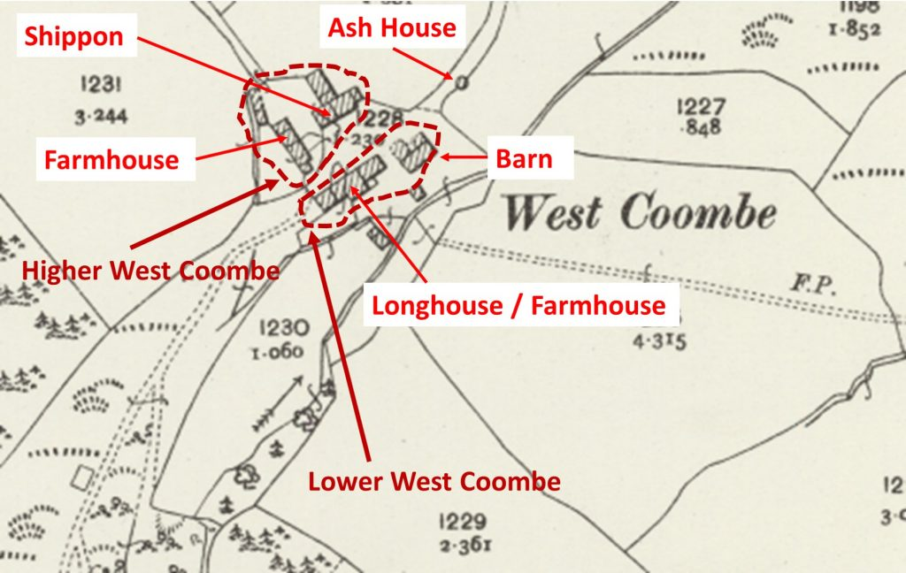 West Coombe Map